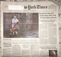 """The New York Times Newspaper October 9 2020 """"Rural Surge In India"""""""