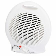 2kw Electric Upright Blow Fan Heater 2 Heat Settings Hot Or Cold Air Silent Run