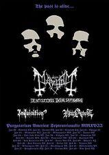 "MAYHEM ""DE MYSTERIIS DOM.SATHANAS"" 2017 NORTH AMERICA CONCERT TOUR POSTER- Metal"