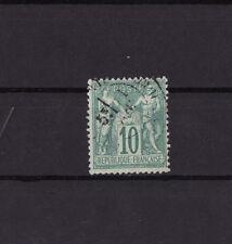 timbre France  Sage  10c  vert      num: 65    oblitéré