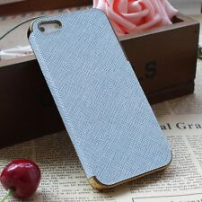 Shockproof Dirtproof Heavy Duty Leather Chrome Hard Case for Apple iPhone 5S 5