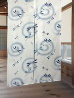 JAPANESE Noren Curtain Dragon Fly White New from JAPAN 85 x 150cm
