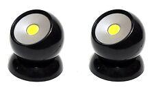 2x 360° COB LED Lichtkugel Lampe Licht Kugellicht Magnet Drehbar KfZ Haus Black