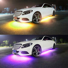 Update 4x Waterproof Under Car Tube Underglow System Neon Light Kit +APP Control