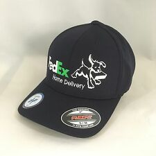 FedEx Home Delivery Flexfit Hat Yupoong Cool&Dry Pique Mesh Cap Dark Navy S/M