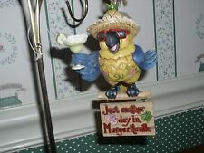 Jim Shore-2017-Holiday Ornament- Margaritaville-Parrot With Sunglasses-New