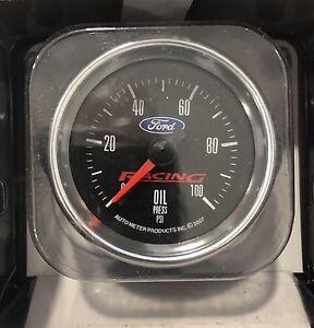FORD RACING AUTOMETER 2 1/16  OIL PRESSURE GAUGE 880085 M-9278-BFSE Cobra Jet
