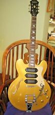 EPIPHONE RIVIERA GOLD TOP P93 MG ~ WITH BIGSBY TREMELO AND EPIPHONE HARD CASE ~