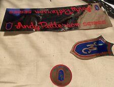 NOS ANDY PATTERSON FRAME & HEAD TUBE Sticker Set VINTAGE BMX OLD SCHOOL