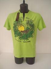 roberto  cavalli  t-shirt  con tigre  e sole  tg  52  verde