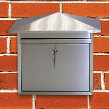 CONTEMPORARY STAINLESS STEEL HOUSE WALL POST BOX LETTER/MAIL MAILBOX/LETTERBOX