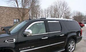 Chrome Trim Window Visors Fits 2015-2020 Cadillac Escalade Set of 4 15-20