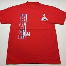 NFL New York Giants 2012 Super Bowl Mens T-Shirt L Reebok XLVI 46 Champion R51