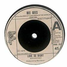 "Bee Gees - Love So Right  - 7"" Vinyl Record Single"