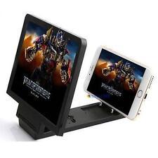Enlarged Screen 3D Glass Magnifier Folding Portable Bracket Fr Mobile Phone B