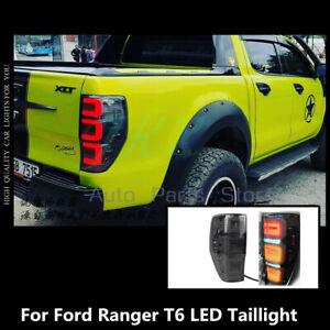 Smoke LED Tail Lamp Brake Light Refit For Ford Ranger T6 Wildtrak XLT 2012-2017