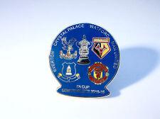 Crystal Palace Man Utd United Watford Everton 2016 Semi Final Match Pin Badge