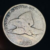 1857 Flying Eagle Cent One Penny 1C Higher Grade Civil War Good US Coin CC4652