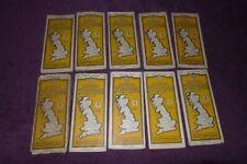 Vintage Bartholomews 1/4 inch automobile map GB Scottish paper & cloth backed AA