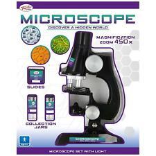 Toyrific Children's Kids Junior Microscope Science Lab Set with Light