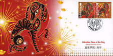 Gibraltar 2018 FDC Year of Dog 2v Set Dogs Cover Chinese Lunar New Year Stamps