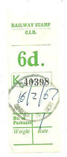 6D C.I.E. RAILWAY LETTER STAMP CARRICK ON SUR 16 2 67 DATESTAMP