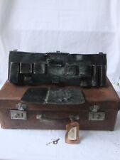 valise ancienne de représentant cuir voyage collection nécessaire de toilette