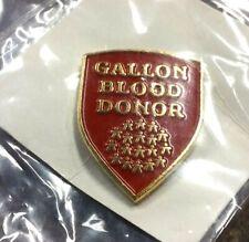 Gallon Blood Donor pin badge