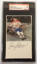 Jean Beliveau Signed Autographed 3 x 5 Index Card Sgc Slabbed - Free Shipping!