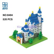BOYU Architecture New Swan Stone Castle Diamond Mini DIY Building Nano Block Toy