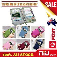 New Travel Wallet Passport Holder Document Organiser Bag Ticket Credit Card Case