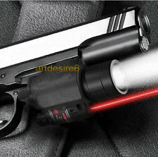 CREE LED Flashlight/Light+Red Laser/Sight for Gun Glock 17 19 22 20 23 W06