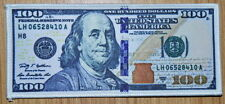 3x Dollars $100 Dollar Bills Cash Money Currency iron on patch Jeans Shoes Skirt
