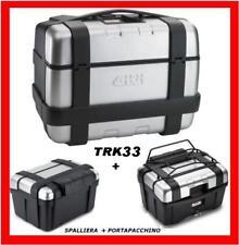VALIGIA GIVI TREKKER TRK33 + SPALLIERA GOMMA E118 + PORTAPACCHI METALLICO E120