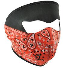 Zan Headgear Neoprene Full-Face Mask, Red Paisley Bandanna