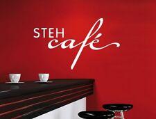 Wandtattoo Küche Stehcafé wal017 Café Kaffee Cappuccino Latte Macciato Sticker