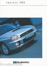 Subaru Impreza AWD Prospekt 11 00 brochure 2000 Auto PKW Autoprospekt Japan Asia