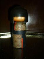 Kokeshi  Poupée Japonaise en Bois / Japanese Wooden Doll signé