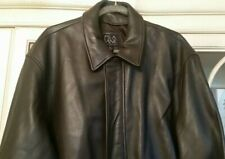 Jos. A. Bank Men's Brown 100% Soft Genuine Leather Jacket Coat ( XL)