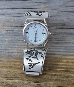 Men's Silver Hopi Mudhead Silver Vintage Watch