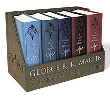 Game of Thrones Book Collection Leather Bound Set Song of Fire and Ice Series .