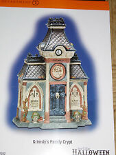 DEPT 56 HALLOWEEN VILLAGE Accessories GRIMSLY'S FAMILY CRYPT *Excellent Display