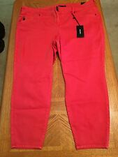 Torrid Plus Size Cropped Jeggings Tomato Red Size 26 New With Tags