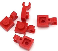 2 X Lego 49668 Plate Dark Red Modified 1 x 1 with Tooth Horizontal
