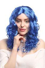 Perruque Femmes Carnaval Leurre Long Volume bouclé Crête moyen bleu