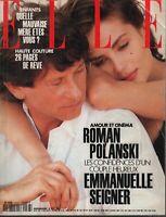 Elle French 14 Septembre 1992 Roman Polanski Emmanuelle Seigner 091619AME