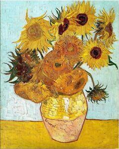 Sunflower Vincent Van Gogh Wooden Jigsaw Retro Art Painting Puzzle 1000 pieces