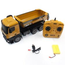 Kids Boys Gift 1:14 2.4G RC Dump Truck 10-CH Remote Large Toy W/Lights&Sound