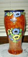 REGAL WARE RPC HAND PAINTED FLORAL FLOWER DESIGN VASE MADE IN ENGLAND