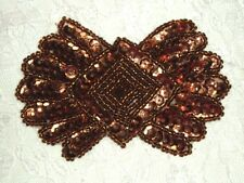 0431 ~ BRONZE BROWN ~ SEQUIN BEADED ~ APPLIQUE  ~ 3.5""
